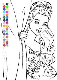 Free Barbie Coloring Pages For Kids