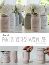 Chalk Painted Mason Jars Detailed Tutorial On How To Paint Distress Jar Diy Ideas