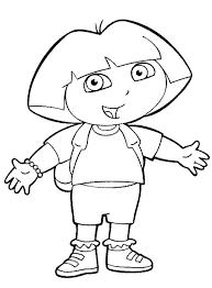 Free Printable Dora The Explorer Coloring Pages 2 Fullcoloringpages Cakepins