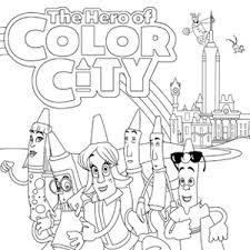 The Hero Of Color City Coloring Book