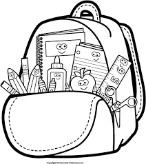 Back to School Clipart Black and White