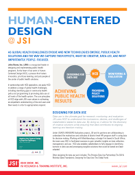 Human Centered Design Technical Expertise International Health