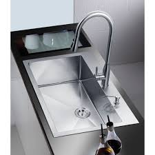 Overmount Double Kitchen Sink by Stufurhome Nationalware Overmount Stainless Steel 33 In 2 Hole