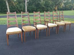 100 Mid Century Modern Canada 6 Walnut Cat Eye Dining Chairs Tabago