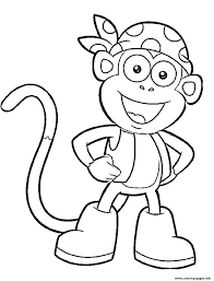 Print Dora Printable S Boots Character451a Coloring Pages