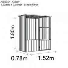 Shed Anchor Kit Bunnings by Absco Aviary 1 52mw X 0 78md X 1 80mh A15081fk Aviary Garden