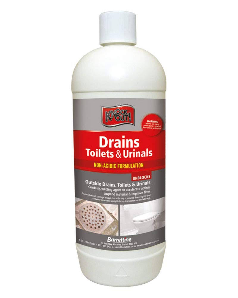 Knockout Drains, Toilets & Urinals Unblocker - 1L