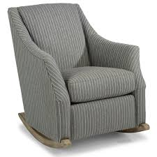 Plymouth Transitional Rocker Chair With Plush Reversible Seat Cushion By  Flexsteel At Dunk & Bright Furniture