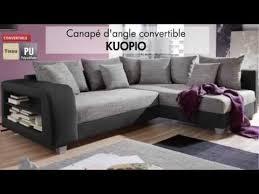 ventes uniques canapes canapé d angle tissu convertible kuopio vente unique com