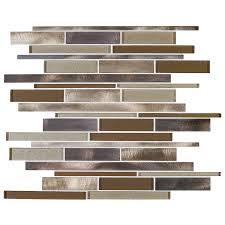 shop american olean bronze blast linear mosaic glass and metal