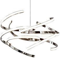 55w led pendelleuchte dimmbar esstisch len chrom rund rotieren design hängele modern kreativ kronleuchter esszimmer wohnzimmer hängeleuchte