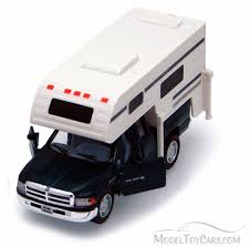 Dodge Ram Pickup W/ Camper, Green - Kinsmart 5503D - 1/46 Scale ...