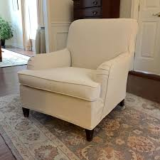 Drop Cloth Slipcover On A Vintage Club Chair | Slipcovers ... Printed Twill Arm Chair Slipcover One Piece Stretch Cover Strapless For Living Room Brenna Collection Preserve The Look Of Your Favorite With Dectable Vintage Overstuffed Armchair Best Stunning Cozy Delightful Leather Slipcovers Set Fabric Tufted Maytex Pixel Fniture Cslipcover Loveseat 2 Buy Covers Online At Overstock Our Pair Of Upholstered Chairs With Pv Estate Ansprechend Oversized And Ottoman Matching Pique Three Back Cushion Inspiring Club Boy