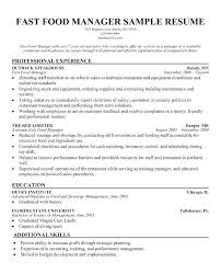 Crew Member Description Mcdonalds Resume Example Resumes Manager Sample