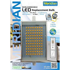 meridian 150w equivalent soft white 2800k r7s led light bulb