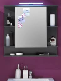 spiegelschrank bad badezimmer spiegel schrank grau 72 cm beleuchtung möbel tetis