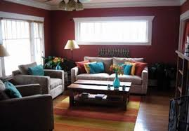 Devine Paprika Dark Red Paint Color Prior To Its New Job This Long Rectangular Living Room Was A Standard Builders White