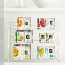 White GravityFeed Can Rack The Container Store