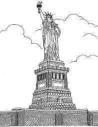 Free Coloring Page Adult New York Statue Liberte The
