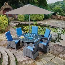 Harrows Artificial Christmas Trees by Harrow Round 6 Seat Garden Dining Set Inc Lazy Susan Bosworths