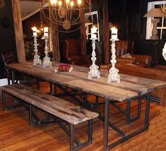 Real Wood Dining Room Tables Salvaged Table 10ft Pinterest