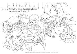 Rainbow Brite Coloring Pages To Download And Print For Free With Page