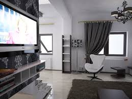 bilder 3d interieur wohnzimmer schwarz weiß valea lupului 3