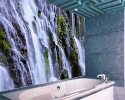 beibehang 3d tapete wohnkultur foto wasserfall landschaft fotografie hotel klebstoff bad große wand kunst wandbild murals 3d
