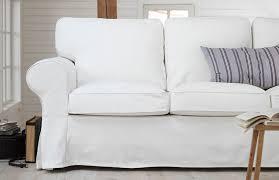 canapé tissu blanc test et avis sur le canapé 2 places en tissu ektorp tests avis