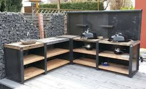 eck variante wood und concrete line outdoor küche