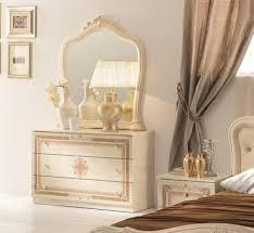kommode mit spiegel lucia in beige creme klassisch