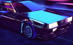 Tag Retro Art Retrowave An 80s Style Animation With A Delorean By Florian Renner