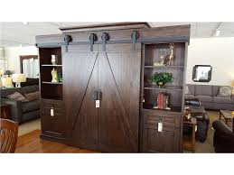 Magnussen Living Room Sliding Barn Door Tv Entertainment Center