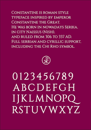 Cinzel Decorative Regular Download by Constantine Type Family Befonts Com