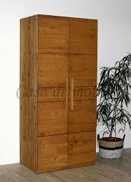 kleiderschrank 100x220x65cm 2türig nordisches massivholz antik gewachst casade mobila