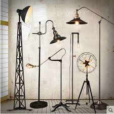 loft country industry vintage floor ls with edison bulbs living