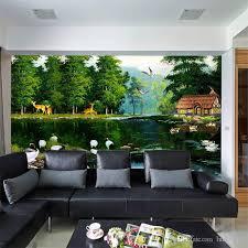 großhandel waldhirsch großes wandbild tapete wohnzimmer tv hintergrund tapete fruit grove theme hotel wallpaper wandbild luckyqiyi 7 68 auf