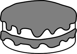 Birthday cake clipart black and white Chocolate Cake Clipart Cake