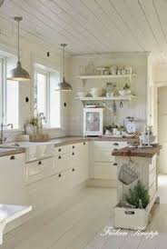 White Cabinets Floor With Brown Tone Countertop And Hardware 31 Cozy Chic Farmhouse Kitchen Decor Ideas