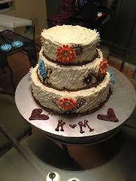 Pre Finished Rustic Bridal Shower Cake