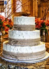 Rustic Burlap Wedding Cake On Central