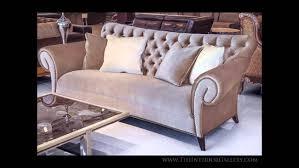 Tufted Velvet Sofa Bed by Tufted Velvet Sofa Estacado Youtube
