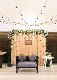 Blissful Serenity Rustic Wedding Backdrop ReceptionWedding
