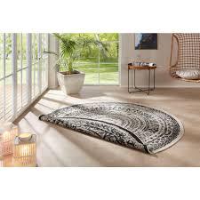freundin home collection teppich rosica rund 5 mm höhe wendeteppich in und outdoor geeignet wohnzimmer
