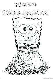Printable Halloween Spongebob Coloring PagesFree