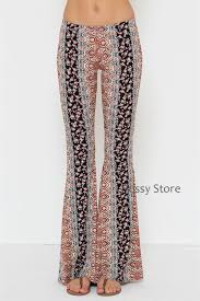 Boho Flare Bell Bottom Pants Vertical Desert Camo Snake Print Sexy Yoga SML