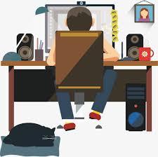 bureau de styliste dans le styliste bureau les hommes designer le noir png