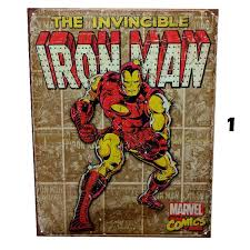 Vintage Superhero Wall Decor by Retro