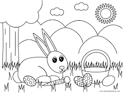 Easter Bunny Coloring Pages Printable