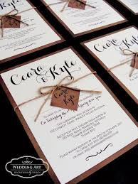 Rustic Wedding Invitation Complete With Cord And Tag Weddingartconz